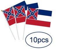 العلم الوطني ميسيسيبي الدولة العلم اليدوية البوليستر الولايات المتحدة الأمريكية العلم الولايات المتحدة الأمريكية الجانبين طباعة البوليستر راية الولايات المتحدة الأمريكية جنوب الأعلام LSK211