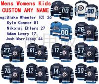 Winnipeg Jets Jersey Blake Wheeler Jersey Kyle Connor Nikolaj Ehlers Adam Lowry Mens Blue Blanco Hockey Jerseys Custom Steinsted