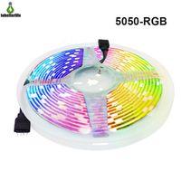 5050 rgb lumière de bande LED lumière DC12V 30ELD / m 60led / m lampe de bande flexible étanche non étanche 5M Décoration R / G / B / W / WW