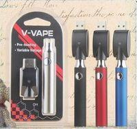 V-VAPE LO التسخين VV Vape القلم 650mAh البطارية مع شاحن USB الجهد المتغير التسخين المسبق البطارية 510 كاتب الموضوع