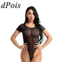 DPOIS One Piece Bodysuit Женщины сексуальное тело костюм Женский Эротический Teddy See Through Rompers женщин Комбинезон с коротким рукавом Секс Костюмы