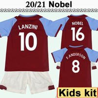 20 21 NOBLE enfants Kit Football Maillots New Chicharito Accueil Arnautovic Rouge Loin Blanc Football Chemises ZABALETA CARROLL LANZINI manches courtes