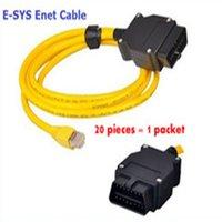 (20 개) 2016 B-M-W ENET (이더넷에 이더넷) 인터페이스 케이블 E-SYS ICOM 코딩 F 시리즈 DHL 무료 배송
