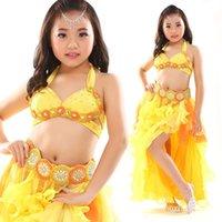 Belly Dance Costumes Ragazze Costumi bambini Abbigliamento Danza Orientale Vestito in rilievo sexy reggiseno cinghia dei bambini di prestazione