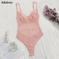 ADULOTY новый образец женщины Ресницы Lace Teddy Bodysuit Сексуальная сетка сквозной подтяжки белье комплект бюстгальтер недоуздок сексуальное женское белье