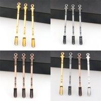 80 milímetros Metals Mini Fuma Pá Color Rich Medicina Spoons banda anel Colher multifunções Exquisite Diversos Eletrodomésticos 1yj E2