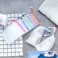 Fabricación de burbujas de jabón neto de ahorro saco de malla Jabón Jabón bolsa de almacenamiento bolsa con cordón Suministros titular de baño