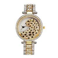 Außenhandel Bester Verkauf Cheetah Diamant-Set Stahlband Cool Fashion Uhr der Frauen High-End-vollen Diamanten-wasserdichten Quarz-Uhr-Gewohnheit