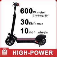 أوروبا عرض خاص 600W 48V 10 بوصة سكوتر الكهربائية طوي الدائمة الكهربائية ركلة سكوتر الكبار الذكية سكوتر الرصيد سيارة في المخزون!