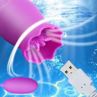 12 Velocidades Língua Licking Licking Vibradores USB Ovo Vibrante G-Spot Vagina Massagem Clitóris Estimulador Sexo Brinquedos para Mulheres Sex Shop