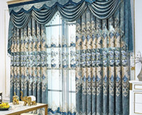2020 горячей продажа Новых серые гостиной жаккардовых Chenille в европейском стиле экран вышитых занавесок Виллы спальня окна балкона настроить