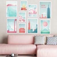 Famosa World Travel Roma Poster Spagna Attrazioni pittura della tela Wall Art Poster e Stampe Pictures per Living Room Decor
