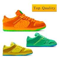 Top Quality Man sb dunk Low Grateful Dead Bears Orange Green Yellow designer shoes Casual Mode Jaune Orange Vert Femmes Sneaker faible taille de 5,5 à 12