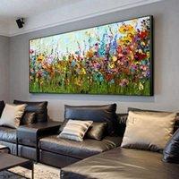 Нож цветок абстрактной живописи маслом искусства стены украшения дома картина ручная роспись на холсте 100% ручной росписью без границ