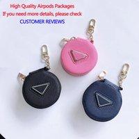 تصميم الأزياء جديد سماعات التعبئة والتغليف للAirpods الأسود الوردي البحرية Airpods حالة وقائية مع مثلث مقلوب مناسبة 1/2/3
