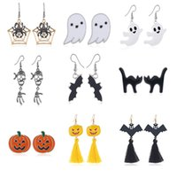 Halloween Earrings Pumpkin Spider Ghost Earrings Exaggerated...