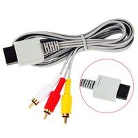 1.8m Audio Video AV-kabel Game Console Composiet 3 RCA Videokabel Koord Draad Hoofd 480P Hoge kwaliteit voor Nintendo Wii-console