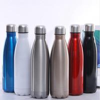 17 Unzen Hitze-Sublimation-Flasche Edelstahl-Wasserflasche Cola formte Doppelwandflasche Insulated Vakuum-Reise-Becher DDA264