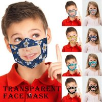 Children Face Mask With Transparent Clear Window Visible Lip Reading Face Mask kids flower Reusable Face masks YYA197-2 300pcs