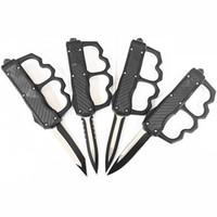 Lieferant Großhandel NEW 4-Modell im Freien kampierende taktischen Messer Kohlefaser Griff tanto / Wassertropfen Blatt mit taktischer Messerhülse