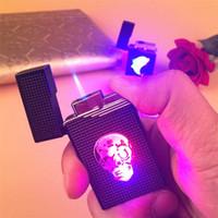 다채로운 LED 소형 부탄 제트 라이터 토치 터보 라이터 담배 흡연 액세서리 가스 1300 개 C 방풍 시가 라이터에 가스