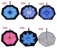 85 Colors Folding Reverse Umbrella Double Layer C Handle Umbrellas Unisex Inverted Long Handle Windproof Rain Car Umbrellas Gifts 777 26