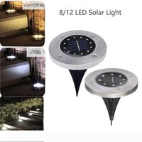 Solar Ground Lamp 8 12 LED Solar Power Buried Light Outdoor Ground Lights for Home Yard Driveway Lawn Road Garden Decoration