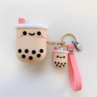 3D Pearl мил коробка кот для яблока airpods случае airpods про airpod 2 3 воздуха стручки наушник зарядное устройство коробки подвеска защитный чехол Accessorie