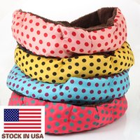 Cama Pet Fashion Dog Kennel Cat Nest Cushion Dot Occonagonal S Size Harness US Atacado