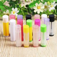 Farbe Lippenstift Tube DIY Chapstick Leere Lip Gloss Container Kunststoffrohre Robuste Tragbare Kosmetik 67x16.6mm 0 23KL D2