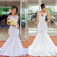 2020 African Black Girls Mermaid Wedding Dresses Vestidos De...
