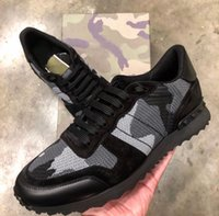[Original Box] 2020 de luxe de rock Stud Sneaker haute qualité Chaussures Casual Femmes, Hommes Camo Mesh rock Runner Outdoor Party Entraîneur weddin