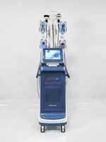 가장 강력한 4 Cryo 핸들 Cryolipolysis가 함께 이중 턱 제거 체중 감소 레이저 지방 냉동 캐비테이션 기계
