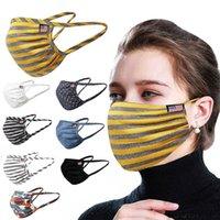 Moda de algodão listrado Máscara Facial Verão fina respirável Designer Boca Mask exterior Dustproof Protective 8 cores HH9-3149