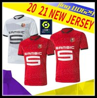 hommes Stade Rennais 20 21 FOOTBALL ROUGE JERSEYS HOME BLACK STRIPE SARR 7 NIANG 11 BOURIGEAUD 14 ANDRE 2020 2021JERSEY LOIN FOOTBALL CHEMISE