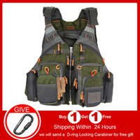 heap Fishing Vests Outdoor Sport Fishing Life Vest Men Breat...