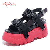 Aphixta Summer Wedges Women Sandals Platform Slippers Thick Sole Bottom Ladies Walking Shoes Woman Zapatillas Chinelo Sandalia