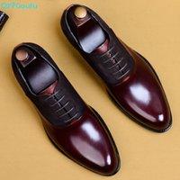 QYFCIOUFU 2019 Fashion Mann Elegante Schuhe Qualitäts-echtes Leder Personality Männer Geschäfts-Kleid Oxford Brautschuhe US 11.5