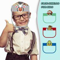 US Entrepôt mignon éponge Masque Forehead Enfants de protection Visage Kawaii Cartoon animal enfants Plein écran facial Couvertures pour les garçons Grils