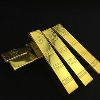 Forme de Bullion Briquet Gold Bar Creative métal rechargeable gaz butane flamme allume-cigare Nouveau 2020