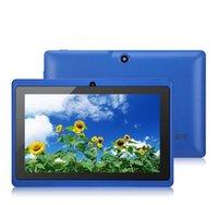 2020 Q88tablets 와이파이 7 인치 512메가바이트 RAM 8기가바이트 ROM Allwinner A33 쿼드 코어 안드로이드 4.4 용량 성 태블릿 PC 듀얼 카메라 페이스 북