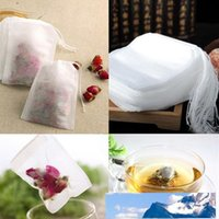 100Pcs pack Teabags 5.5 x 7CM Empty Scented Tea Bags With String Heal Seal Filter Paper for Herb Loose Tea EEA137