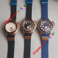 New limitada Maxi Marinha Diver 3203-500LE-3/93 HAMMER Black Dial automático Mens Watch prata caso Rubber Strap Esporte relógios de alta qualidade