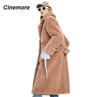 CINEMORE 2020 Winter new arrival fur coat women outerwear lo...