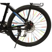 BIKE LIGHT 2ピースカラフルな自転車反射ストリップリフレクターチューブクリップスポークMTBホイール半径XR-