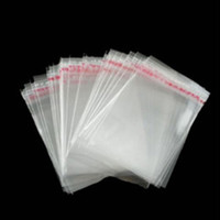 100 Pcs 8cmx12cm Self Adhesive Seal Poly Bag Plastic Bag Cle...