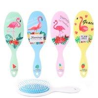 Cartoon Air Cushion Flamingo pettine ovale piatto di plastica Curl Combs Massaggi Prevenire Knotting dritto Hair Brush Airbag Barber Tools 4 38rf B2