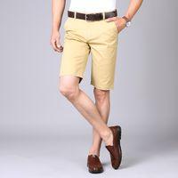 NIGRITY 2020 Sommer neuen Männer Grund Shorts Smart Casual Fashion Taschen Fest Farbe Schwarz Blau Khaki Large Size 28-40