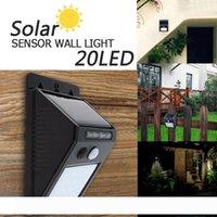 (20) LED 태양 광 발전 PIR 모션 센서 벽 빛 야외 방수 에너지 절약 거리 마당 경로 홈 정원 보안 램프 LEG_20G