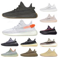 Top Quality 2020 Kanye West Men Women Running Shoes Cinder Tail Light Earth Desert Sage Asriel Zebra Static Sneakers Sports Size 36-48